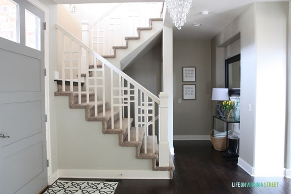Spring Home Tour - Entryway & Front Door - Life On Virginia Street