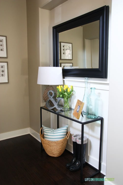 Spring Home Tour - Entryway Front Table - Life On Virginia Street