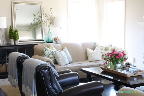 Spring Home Tour - Living Room Decor - Life On Virginia Street