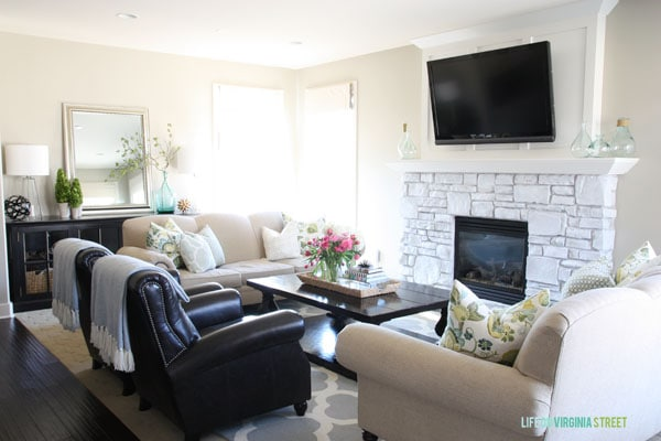 Spring Home Tour - Living Room - Life On Virginia Street