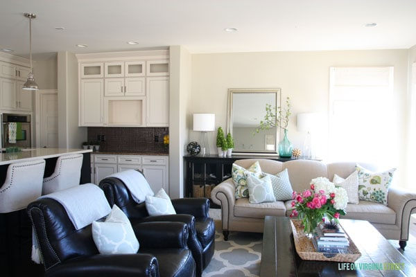 Spring Home Tour - Living Room and Kitchen - Life On Virginia Street