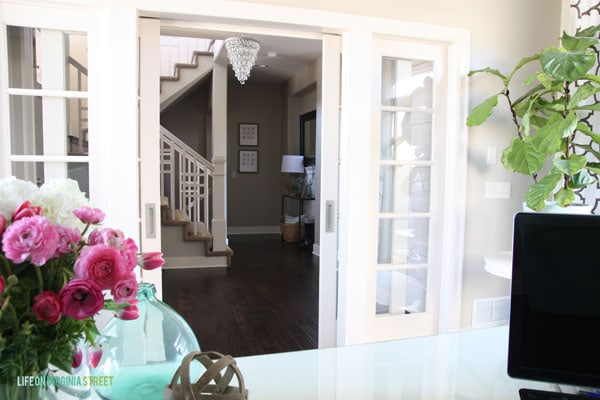 Spring Home Tour - Office with View of Entryway - Life On Virginia Street