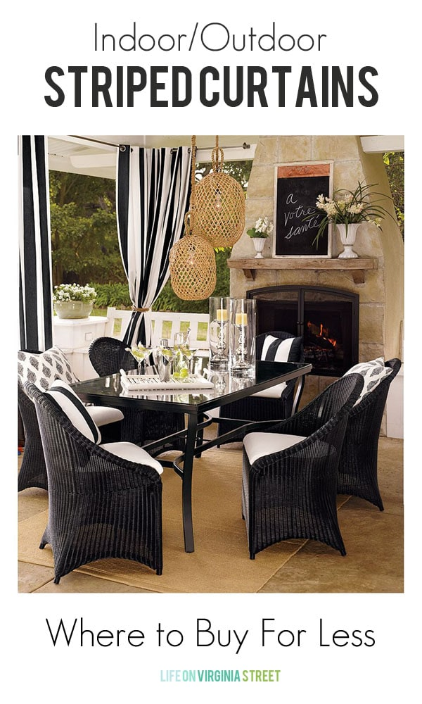 Striped Outdoor Curtains - Six Stores, One Look