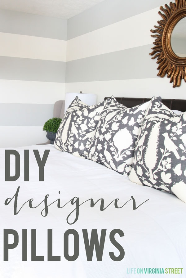 Tutorial - DIY Designer Pillows with a Zipper