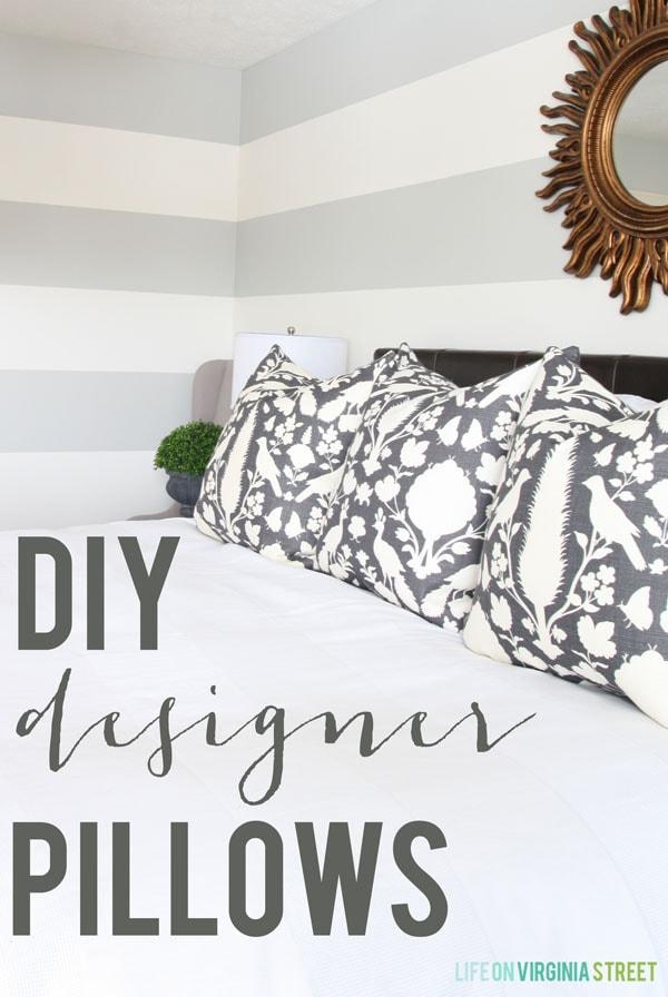 Tutorial - DIY Designer Pillows with a Zipper