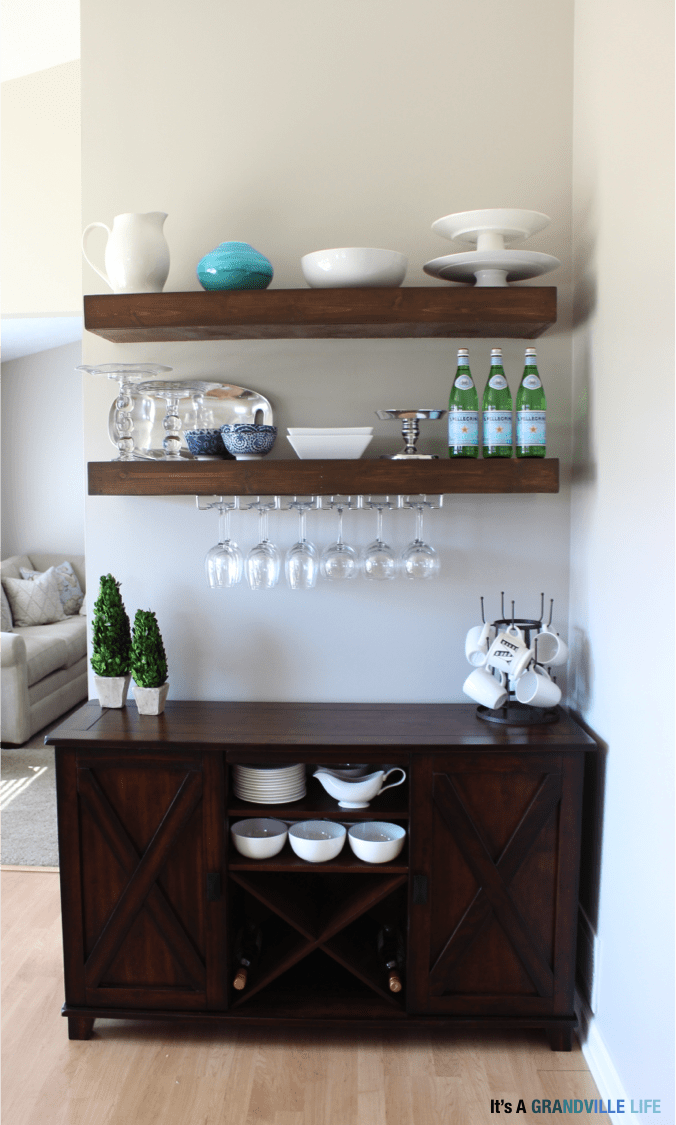 Alcohol Storage Bar Between Kitchen And Dining Room