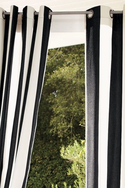 Striped Outdoor Curtains | One Look, Six Stores