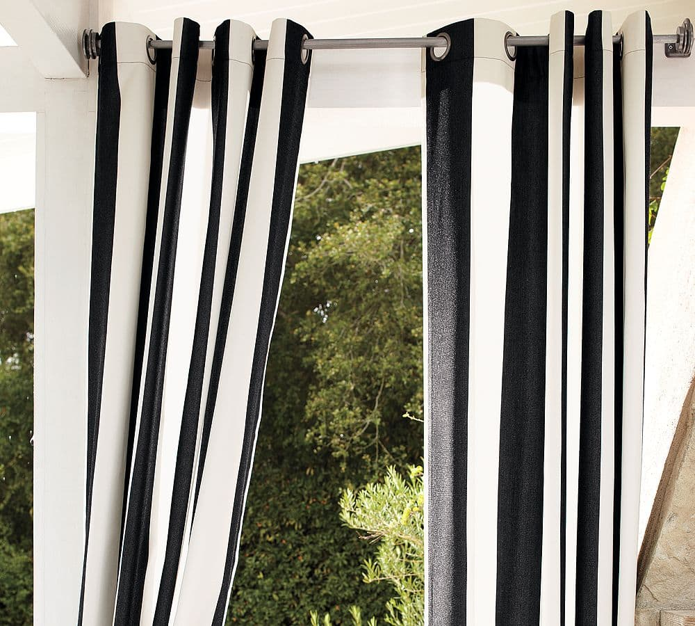 striped outdoor curtains and drapes life on virginia street. Black Bedroom Furniture Sets. Home Design Ideas