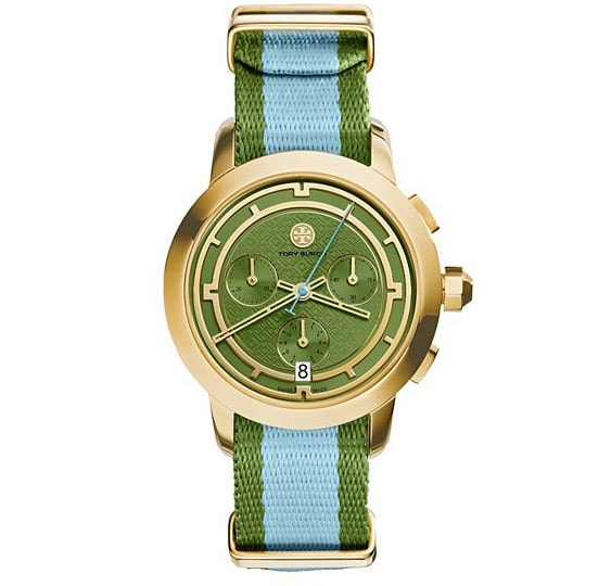 {Aqua and Green Tory Burch Watch}