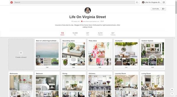 Life On Virginia Street Pinterest Page