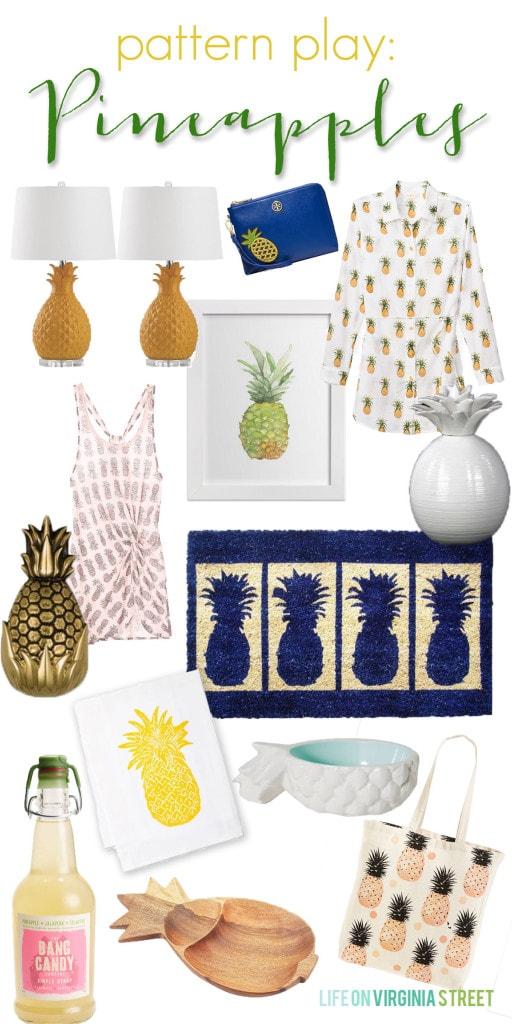 Pattern Play - Pineapples - Life On Virginia Street