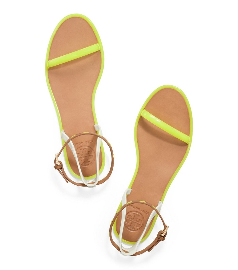 {Tory Burch Leather and Jelly Sandals}