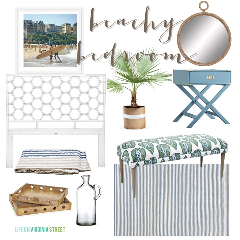 Beachy Bedroom - Life On Virginia Street