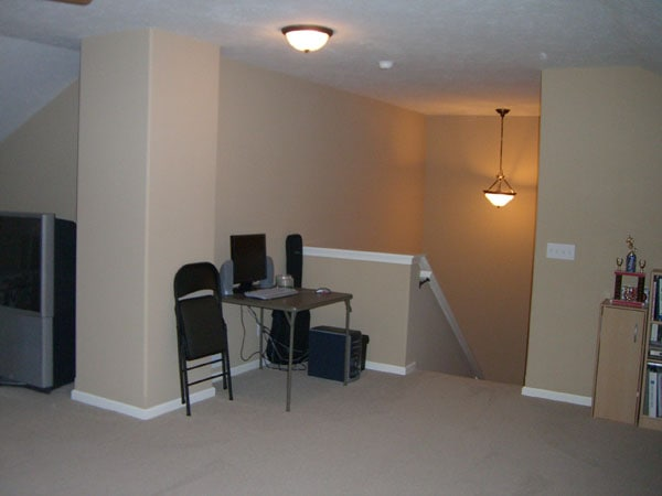 Bonus Room Staircase Before - Life On Virginia Street