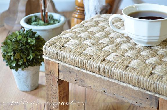 DIY Rustic Footstool