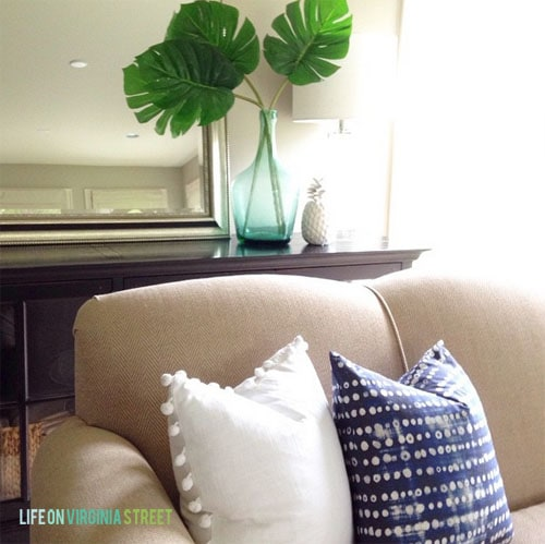Living Room Summer Pillows - Life On Virginia Street