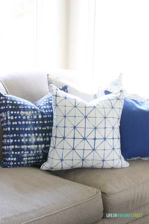 Living Room Throw Pillows - Life on Virginia Street