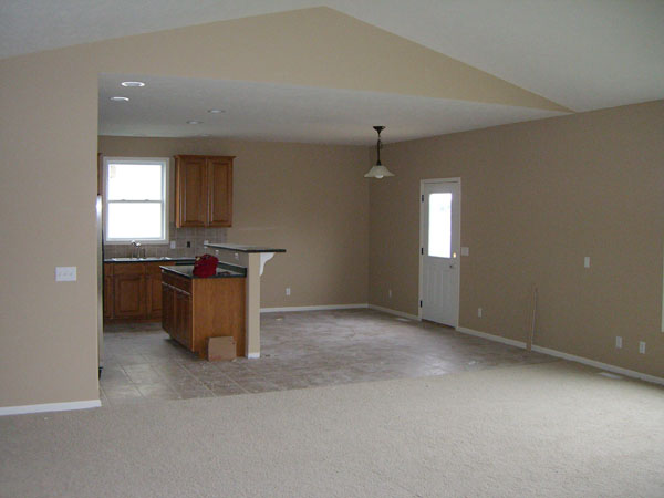 Living Room and Kitchen Before - Life On Virginia Street