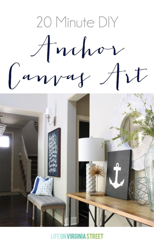 20 minute DIY anchor canvas art graphic.