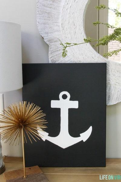 DIY Anchor Canvas Art