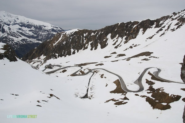 The Austrian Alps pass with hairpin turns throughout our drive.