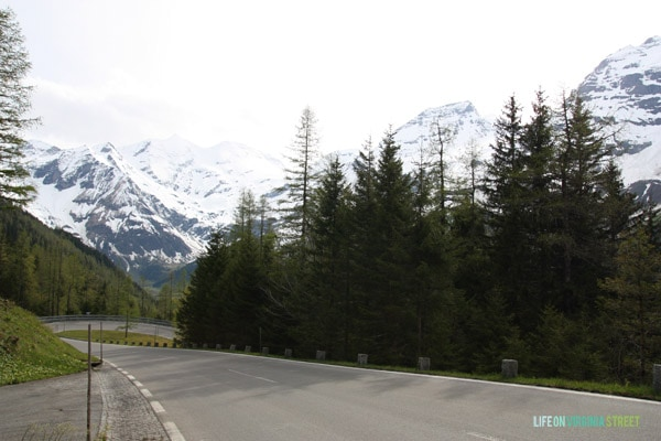 Winding up the Austrian Alps during our drive, you can see it getting colder.