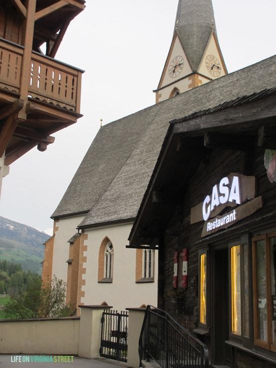 At the Casa Restaurant in Austria.