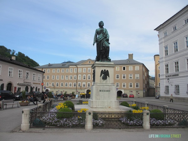 The Salzburg Mozart Statue we saw during our Austria trip.