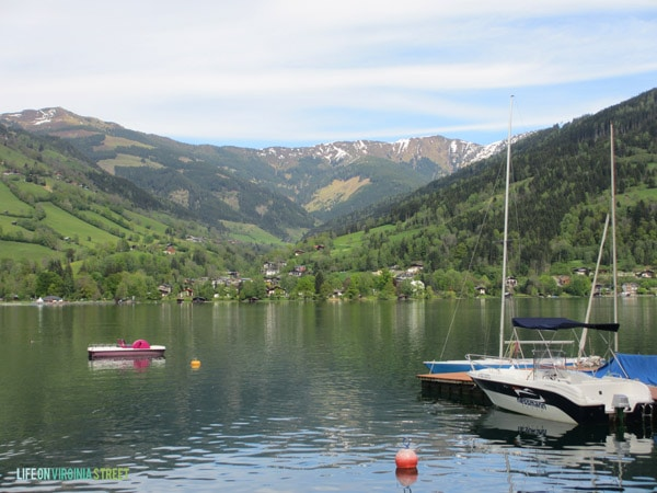 Visiting the Zell Am See in Austria.
