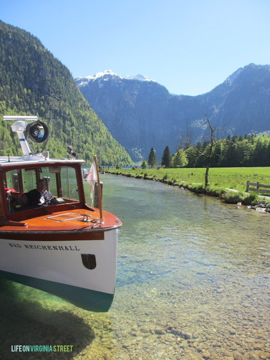 The Lake Königssee Boat Tour in Germany with amazing views.