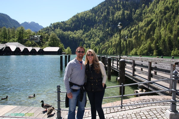 Visiting Lake Königssee in Germany.