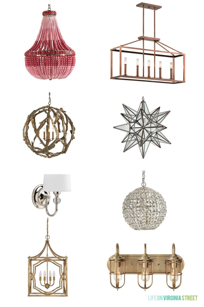 Lighting Connection Picks - These amazing light fixtures are each so unique and beautiful! Life On Virginia Street
