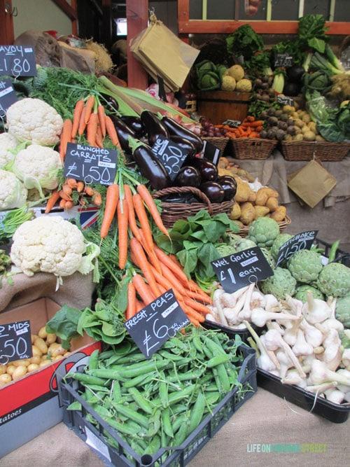 London Borough Market Vegetables - Life On Virginia Street
