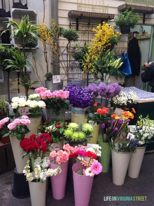 London Borough Market flowers - Life On Virginia Street