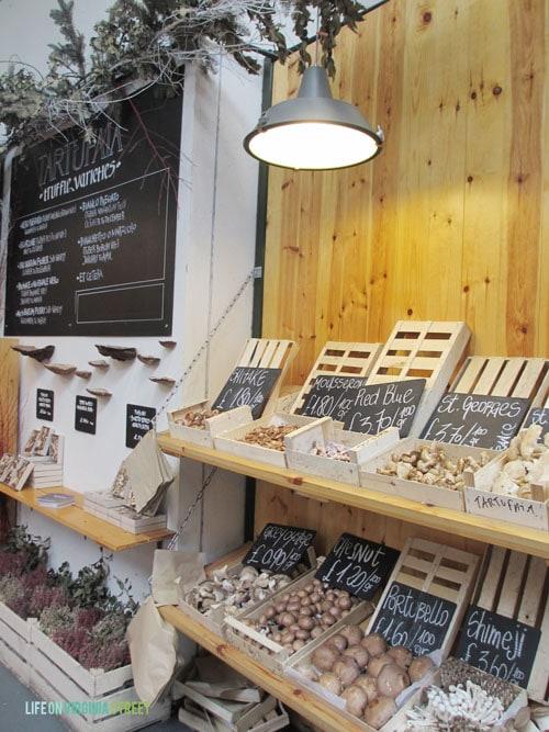 London Borough Market mushrooms - Life On Virginia Street