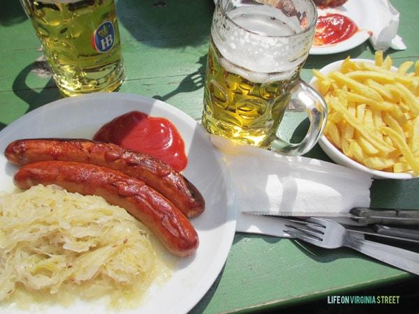 Classic beer garden food in Munich.