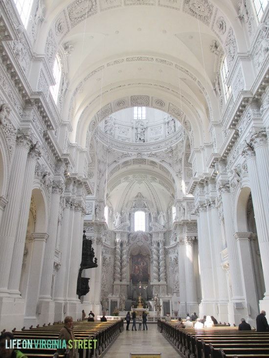 The White Church in Munich was absolutely stunning.