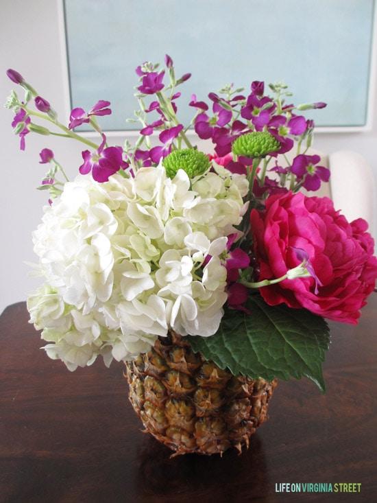 Pineapple Vase - Finished Product - Life On Virginia Street