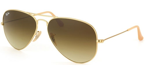Ray-Ban-Unisex-RB-3025-112-85-Matte-Gold-Metal-Aviator-Sunglasses