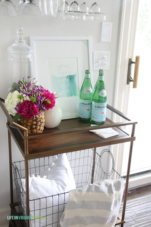 Summer Home Tour - Bar Cart - Life On Virginia Street