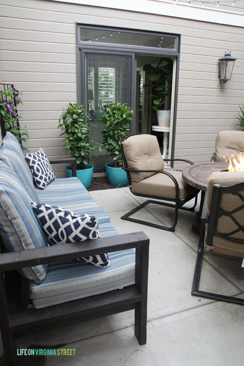 Summer Home Tour - Courtyard and Office - Life On Virignia Street