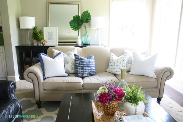 Summer Home Tour - Living Room Close Up - Life On Virginia Street