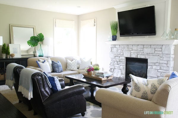 Summer Home Tour - Living Room View - Life On Virginia Street