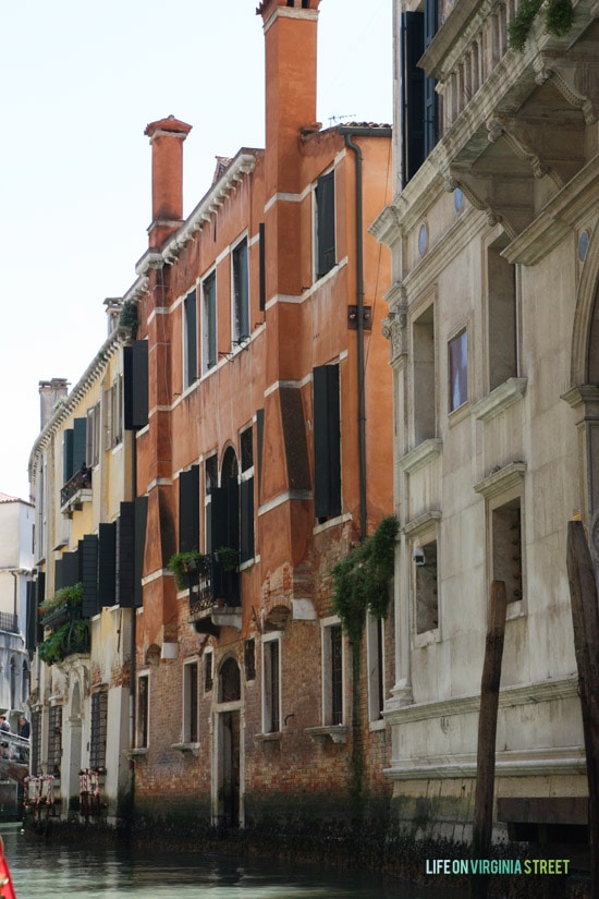 The canal views throughout Venice.