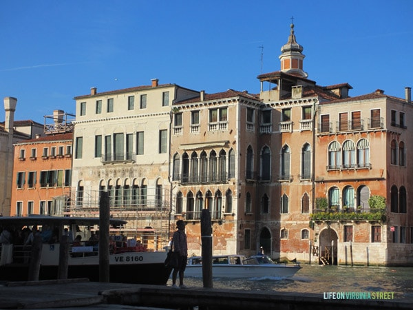 A lovely view of the Grand Canal in Venice during our trip.