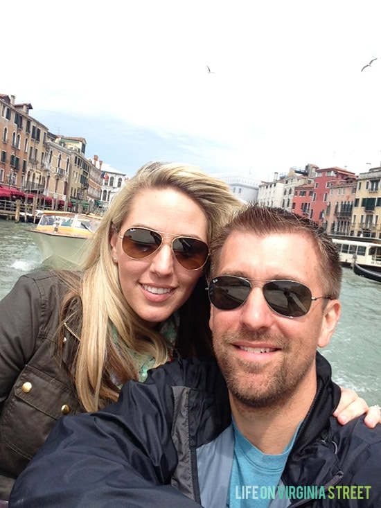 Visiting Venice and enjoying the Grand Canal drive.