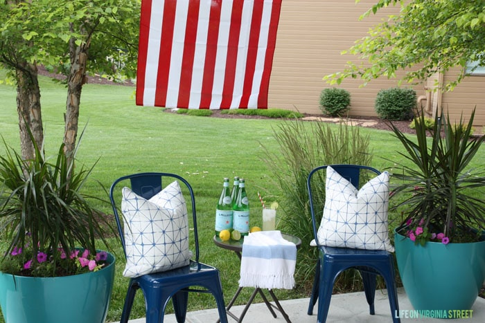 4th of July - Back Patio Decor - Life On Virginia Street
