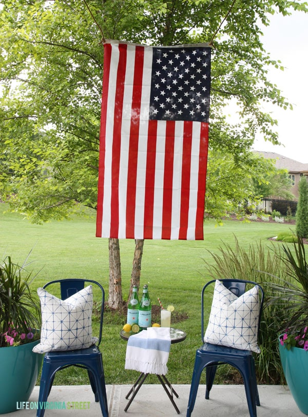 4th of July Decor - Back Patio - Life On Virginia Street