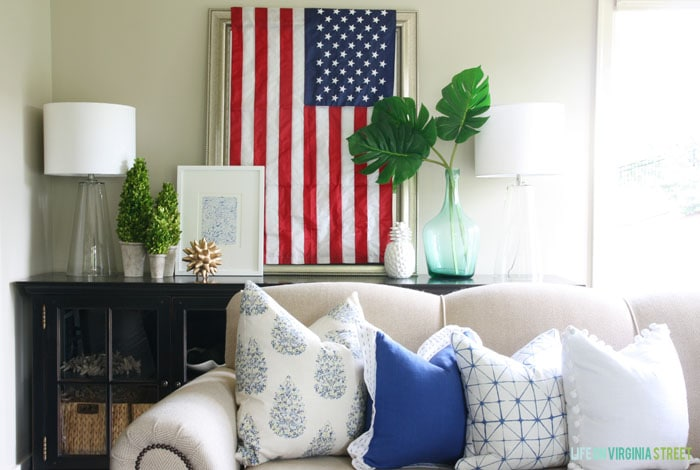 4th of July Decor - Living Room Details - Life On Virginia Street