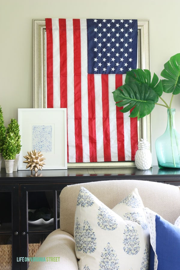 4th of July Decor - Living Room - Life On Virginia Street